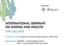 "Seminário Internacional ""On Ageing and Health"""